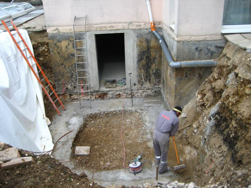cave beton extension renovation